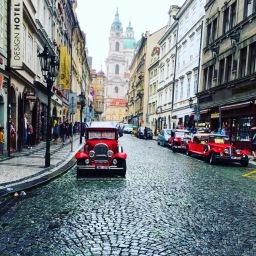 Promenading In Prague
